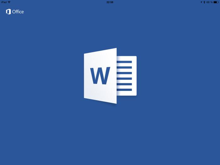 MS Word für iPad