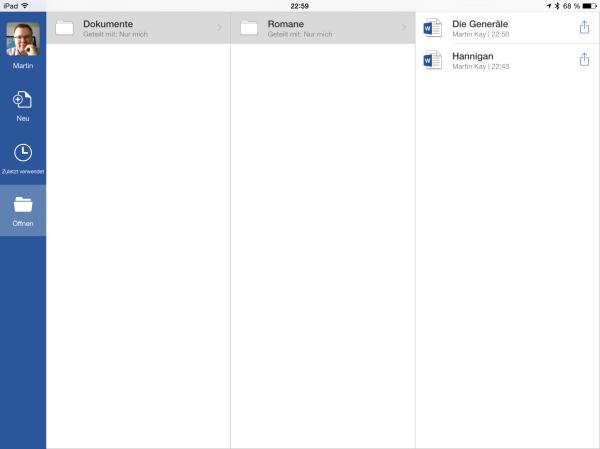 Menüstruktur wie in OneDrive