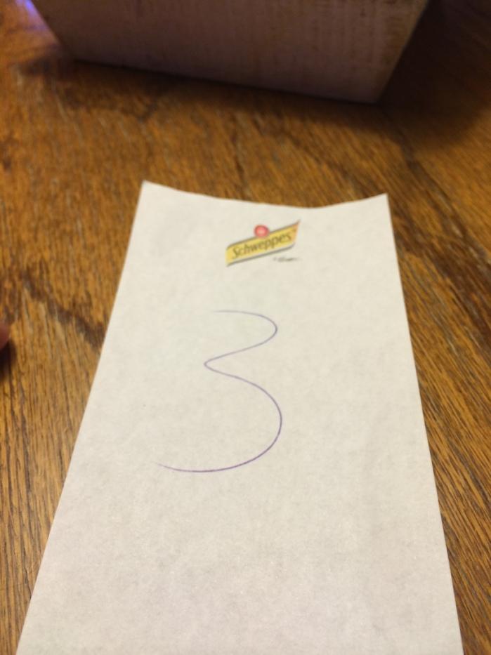 Die Sache mit der Nummer. Ich hatte die 3 und bezahlte die 7.