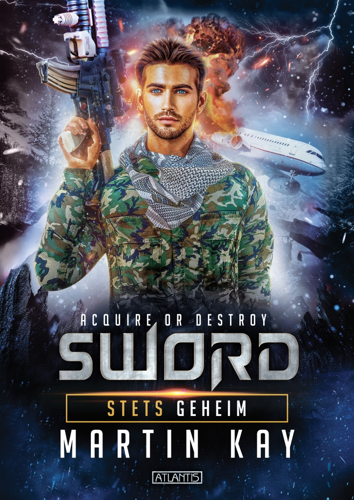 SWORD 1 - STETS GEHEIM. Titelillustration von Anna Spies Umschlag Laypout von Timo Kümmel